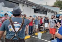 Waterline Brewing Company's annual Oktoberfest Under the Bridge features the traditional stein-holding competition. (Port City Daily photo/Courtesy Waterline Brewing Co.)